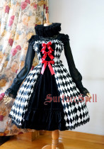 SurfaceSpell ~Rhombic splicing sling gothic JSK dress