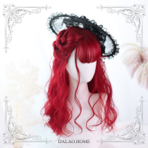 ★Miki★45cm +Short curly and  air bangs lolita wig