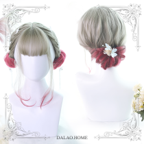 ★Graffiti girl w★45cm + dyed by hand-made curly lolita wig