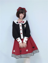 To Alice*Poker soldier doll collar sweet lolita  coat+skirt