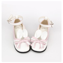 【 Angelic imprint】Decorated Rabbit ear and lace Lolita shoe
