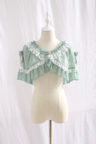 Miss lolo ~Lace and lotus bow chiffon petite Cape~Pre-order Closed