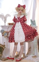 MS Point~Sweet Point Print Loliat OP Dress Front open