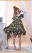 MS Point~Sweet Point Print Loliat OP Dress With Short Sleeve