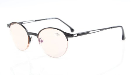 Quality Spring Hinges Half-Rim Oval Round Computer Reading Glasses CG1646