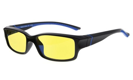 Computer Reading Glasses 94% Blue Light Blocking UV Protection Yellow Tinted Lens for Electronic User CGXM01