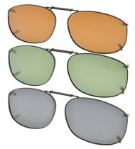 3-pack Clip-on Polarized Sunglasses 2 1/4×1 7/16 inch (54x37MM) C89-3pcs-Mix