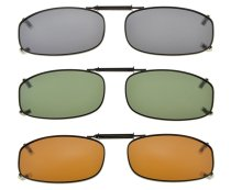 3-pack Clip-on Polarized Sunglasses 1 7/8×1 1/16 inch (48x27MM) C77-3pcs-Mix