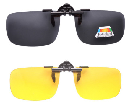 Day-Night 2 Pairs Valupac Clip up Flip up Sunglasses F6-2 pcs