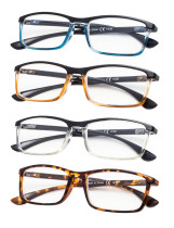 Reading Glasses 4-Pack Fashion Design Full-Frame R113-Mix-4pcs
