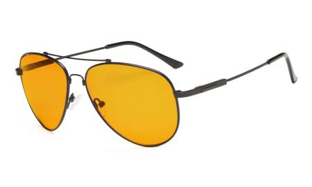 Computer Glasses for Sleep-Nighttime Blue Blocking Memory Frame Orange Tinted  DS1804