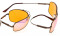 Computer Glasses Blue Blocking  for Sleep-Nighttime Orange Tinted  Bendable Memory Frame  Bendable Memory Frame DS1805