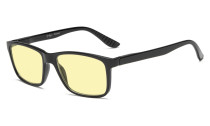 Computer Reading Glasses Yellow Tinted Lens Blue Light Shield TM163