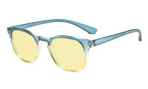 Computer Reading Glasses Blue Blocking Digital Eye Strain Prevention-Yellow Tinted Lens TMCG144