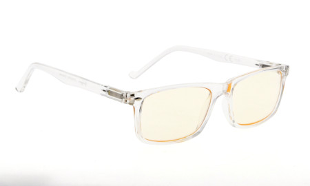 Computer Glasses UV Protection Tinted Lens Stylish Women Men Transparent Frame CG899