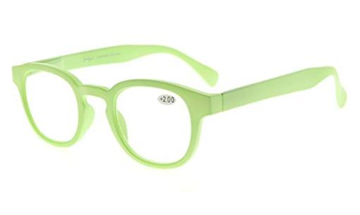 Reading Glasses UV Protection Anti Reflective Coating Candy Color Frame with Spring Hinge Light-Green TMCG124