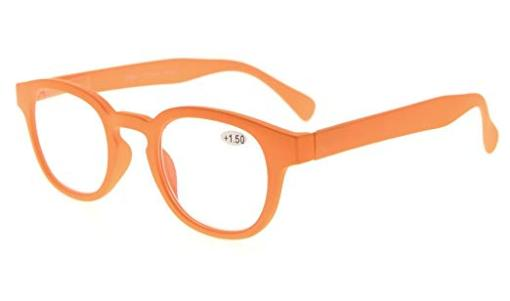 Reading Glasses UV Protection Anti Reflective Coating Candy Color Frame with Spring Hinge Orange TMCG124