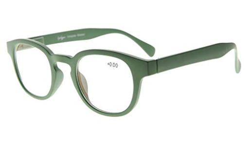 Reading Glasses UV Protection Anti Reflective Coating Candy Color Frame with Spring Hinge Dark-Green TMCG124