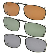 3-Pack Metal Frame Rim Polarized Lens Clip On Sunglasses 1 15/16 x1 1/4  inch (50×31MM) C79-3pcs-Mix