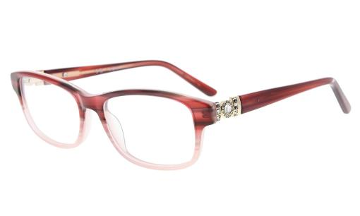 Eyeglasses Optically correct Quality Spring Hinge Rx-able Acetate Frame Women Red FA0062