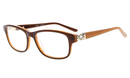 Eyeglasses Optically correct Quality Spring Hinge Rx-able Acetate Frame Women Brown FA0062