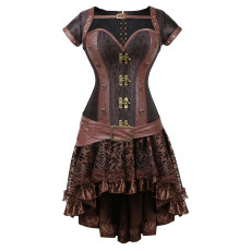 Metal Accessories Sleeve Noble Top Elegant Decorative Gothic Style Dress