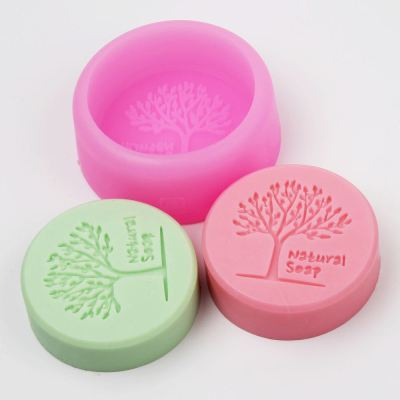 BA003 Tree Soap Mold Silicone ,NATURAL Phytoncid Decorating Clay Wholesale