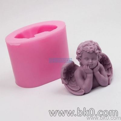 BJ023 3D Boy Angel Shaped Baby Candle Molds Chocolate Silicone Mold Fondant Cake Decoration Tools