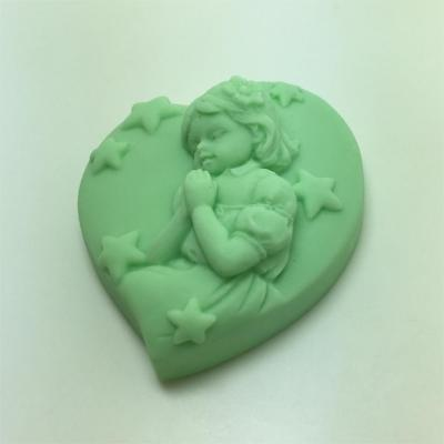 Angel Girl Praying Soap Silicone Mold Candle Moulds Wholesale Heart Shaped Molds AM009