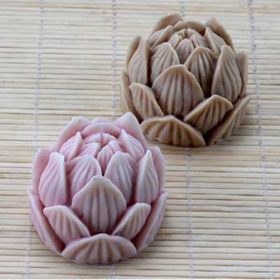 3D Lotus Silicone Soap Molds Chocolate Cookie Mould Flowers Cake Decorating Tools AF017