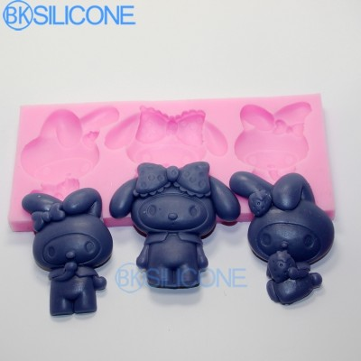 Rabbits Silicone Mold Cake Mould Cake Silicone Sugarcraft Moulds AO007