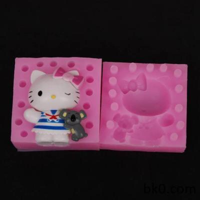 3D Silicone Cat Molds Chocolate Cookie Mould Cake Decorating Tools BKSILICONE WB007
