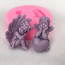 BK1007 3D Angel Silicone Molds Fairy Baby Soap Mold Cake Decoration Craft Molds