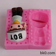 3D Silicone Candle Molds Chocolate Cookie Mould Cake Decorating Tools BKSILICONE WB004