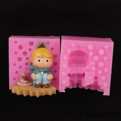 3D Silicone Soap Candle Molds Resin Boy And Snake Silicone Molds Cake Decorating Tools WA010