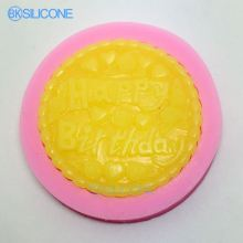 Birthday Silicone Mold Fondant Cake Molds Mould For The Kitchen Baking AN007