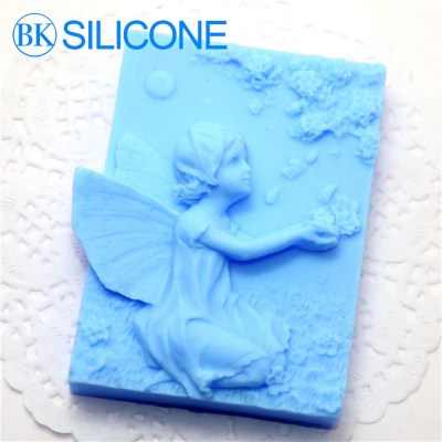 Angel Silicone Soap Molds Chocolate Cookie Mould Cake Decorating Tools AF008