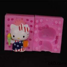 3D Lovely Cat Soap Mould Silicone Candle Resin Mold WB011