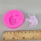 Anivia Birthday Unicorn Animalsl Silicone Mold Fondant Random send grey pink