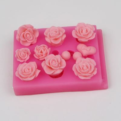 AZ010 3D Flower Silicone Sugarcraft Fondant Mold Cake Baking Decorating Tool Kitchen Cake Mould