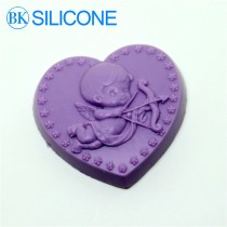 Baby Cupid Heart Shaped Molds Fondant Cake Decorating Tools Wedding Decoration AJ007