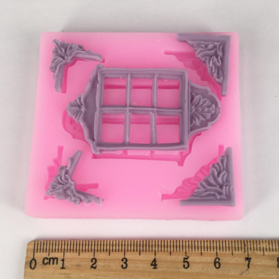NEW BK1011 Garden Fairy or Gnome Home Door Silicone Mold Crafting Polymer Clay Resin Mold for Cake Decorating