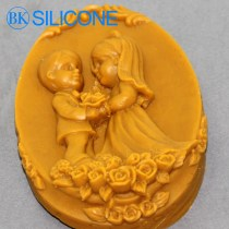 rubberr Moulds Lovers Wedding Chocolate Molds Cake Cooky Soap Mold AB021