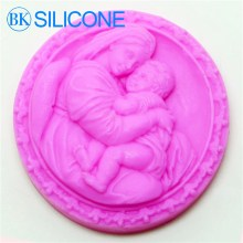 Hot Soap Silicone Molds Chocolate Moulds Cooking Tools Mother And Son Mould AF025