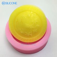 Bamboo Silicone Mold Round Craft Molds DIY Handmade Cake Molds AN021