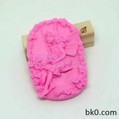 3d Beautiful Faery Angel Soap Mold Soft Resin Candle Candy Jelly Cake Cookie Mould AE007