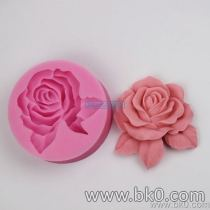 BJ004 3D Big Rose Shape Silicone Rubber Cake Mold Handmade Soap Molds Resin Craft