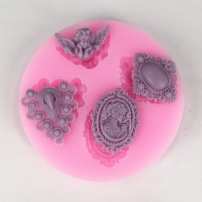 BK1036 Angel, Avatar, Diamond Fondant Cake Silicone Mold Chocolate Candy Molds Cake Decoration
