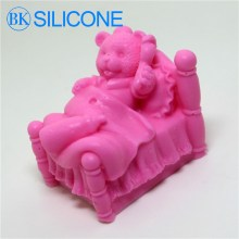 3D Teddy Baby Silicone Soap Molds Candle Mould Sleep Bear Molds AG001