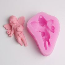 BD008 Angel Baby Silicone Mold Fimo Mold Chocolate Mold Fondant Cake Decoration Mold Sugar Craft Tools Soaps